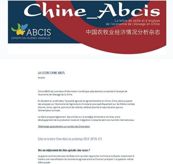 Chine_ABCIS - Abonnement 1 an
